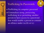 trafficking in passwords