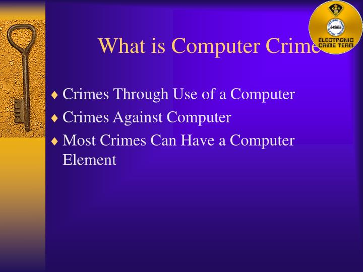 What is computer crime