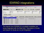 idxrad integrations