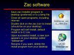 zac software