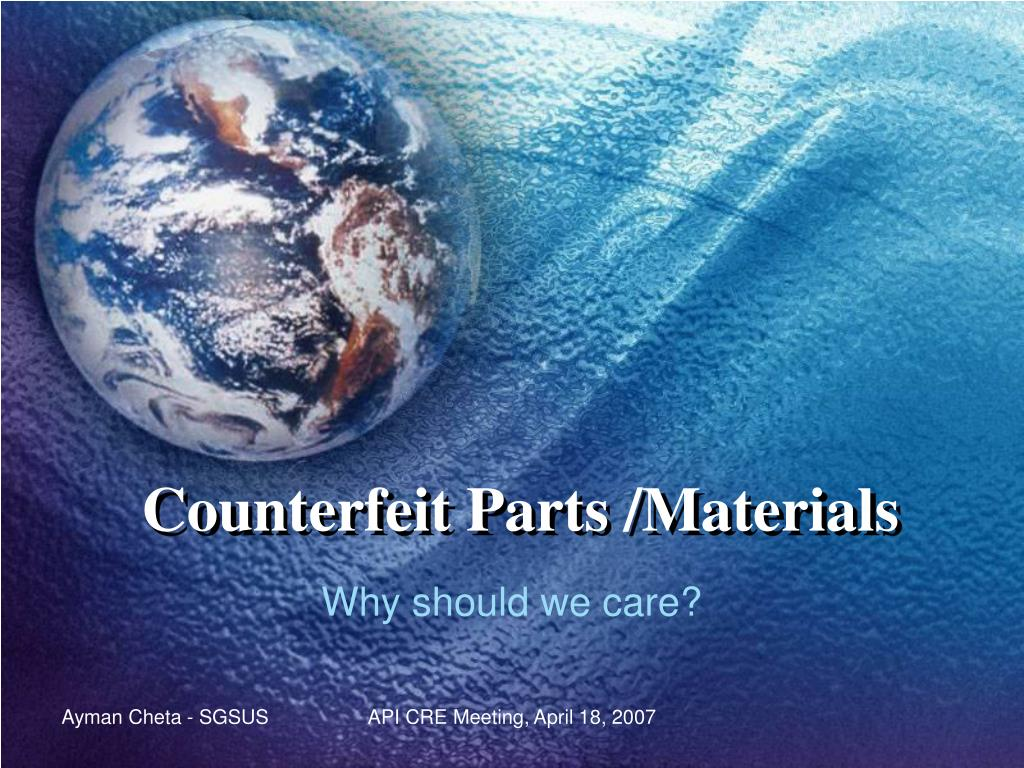 counterfeit parts materials l.