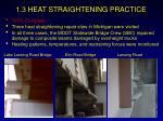 1 3 heat straightening practice28