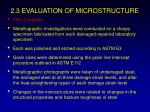 2 3 evaluation of microstructure