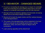 3 1 behavior damaged beams