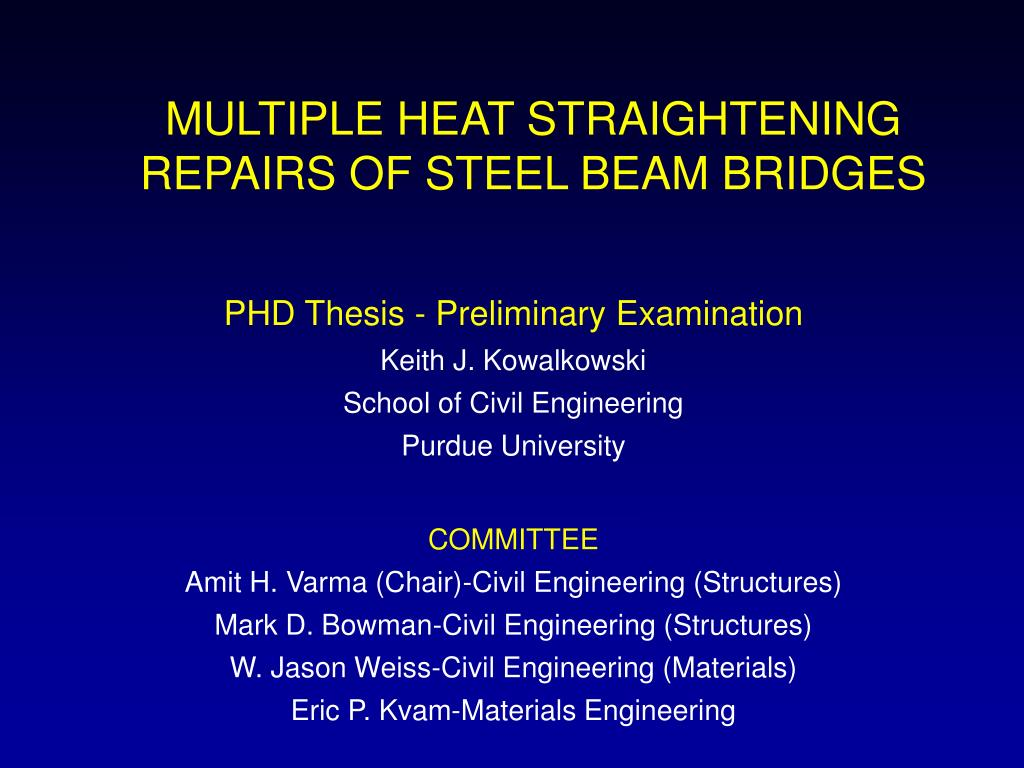 multiple heat straightening repairs of steel beam bridges l.