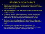 research significance
