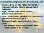environmental geography vast challenging land