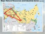 major natural resources and industrial zones fig 9 30