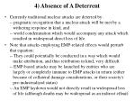 4 absence of a deterrent