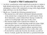 coastal vs mid continental use