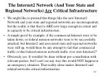 the internet2 network and your state and regional networks are critical infrastructure