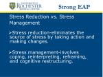 stress reduction vs stress management