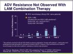 adv resistance not observed with lam combination therapy