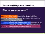 audience response question67