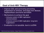 goal of anti hbv therapy