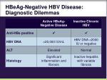 hbeag negative hbv disease diagnostic dilemmas