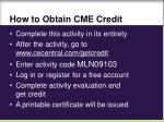 how to obtain cme credit