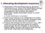 1 allocating development resources15