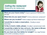 calling the restaurant dzwonimy do restauracji