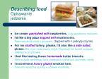 describing food opisywanie jedzenia