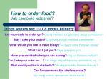 how to order food jak zam wi jedzenie