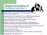 sample conversation 1 przyk adowa rozm wka 1