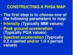 constructing a phsa map