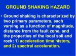 ground shaking hazard