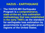 hazus earthquake