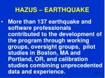 hazus earthquake104