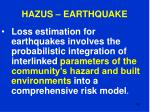 hazus earthquake105