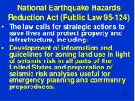 national earthquake hazards reduction act public law 95 12443