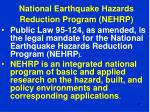 national earthquake hazards reduction program nehrp