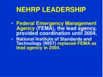 nehrp leadership