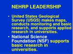 nehrp leadership49