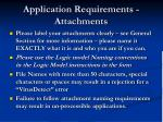 application requirements attachments