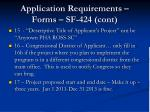 application requirements forms sf 424 cont
