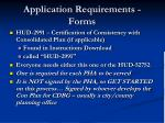 application requirements forms