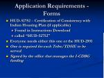 application requirements forms46