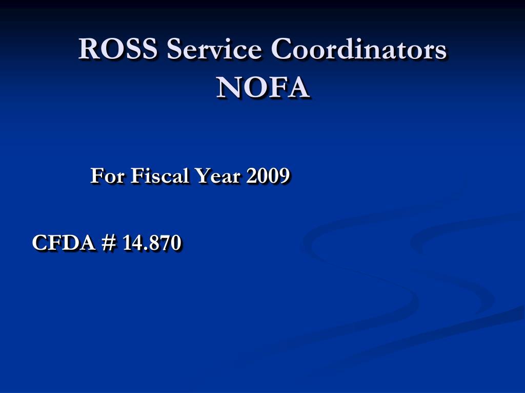 ross service coordinators nofa l.