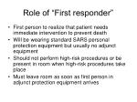 role of first responder