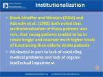 institutionalization31