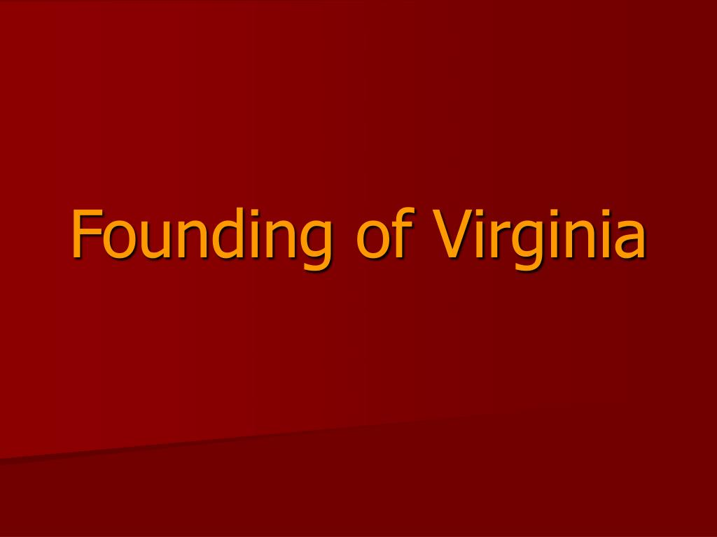 founding of virginia l.