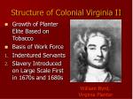 structure of colonial virginia ii