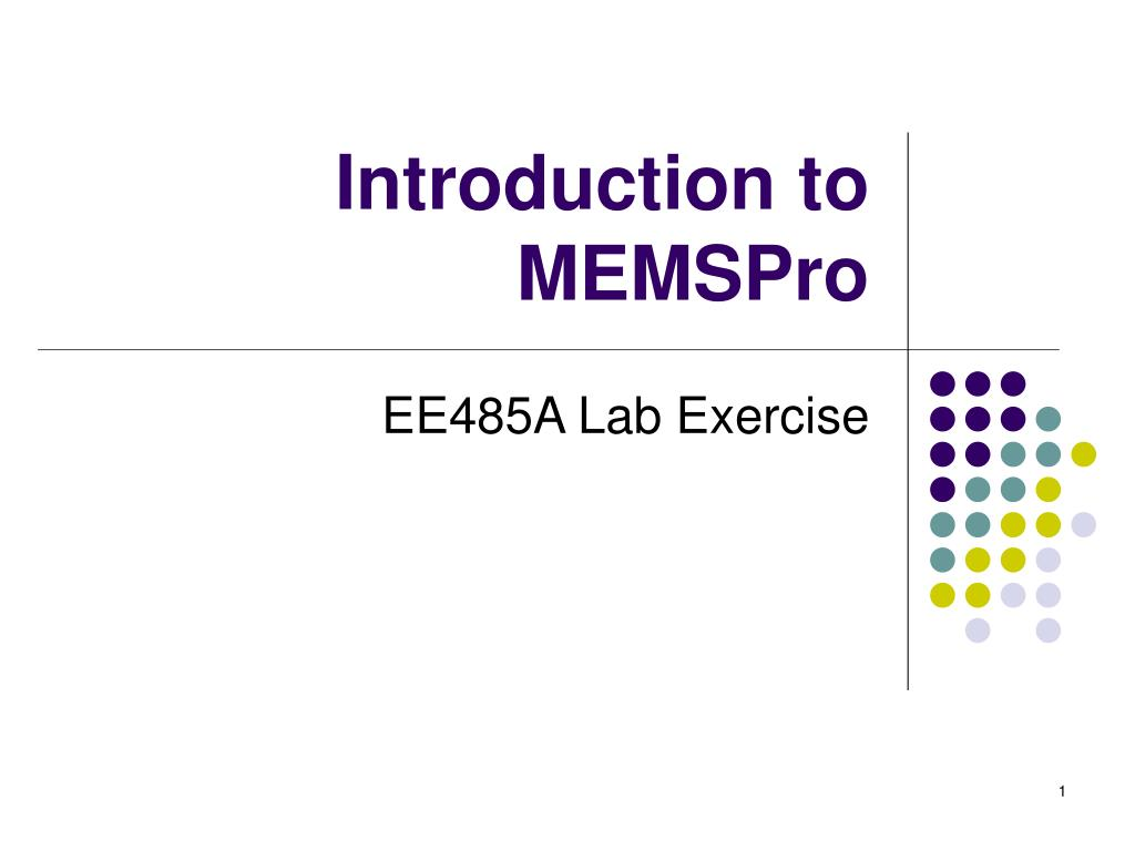 introduction to memspro l.