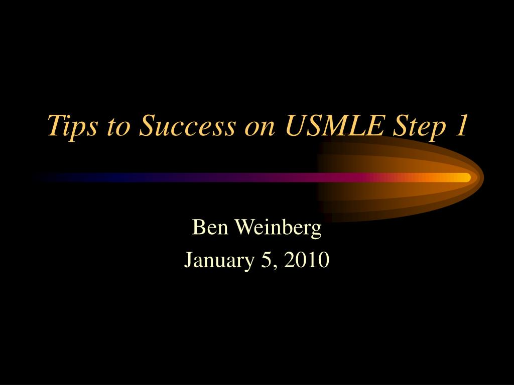 tips to success on usmle step 1 l.