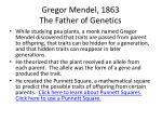 gregor mendel 1863 the father of genetics