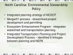 north carolina environmental stewardship policy