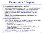elements of a c program
