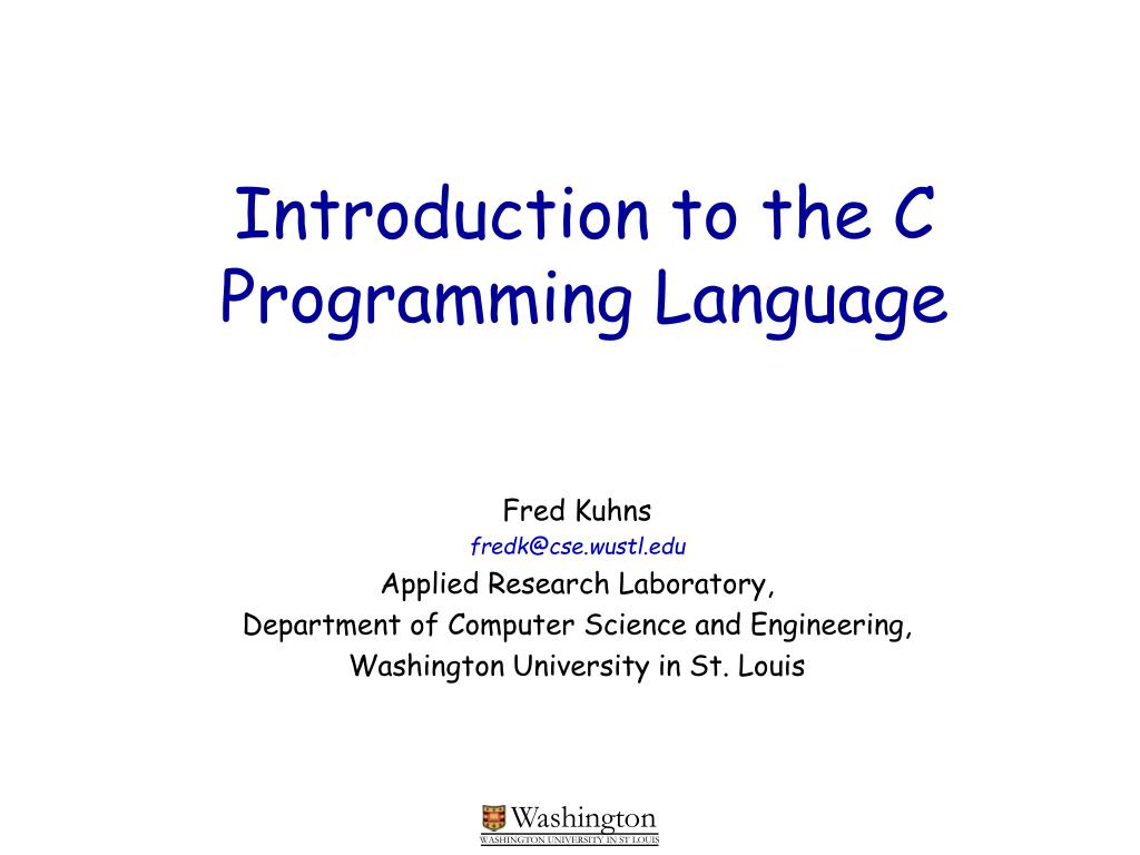introduction to the c programming language l.
